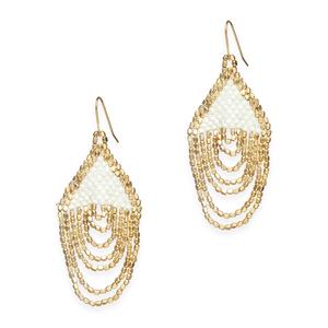 goldpearl earrings
